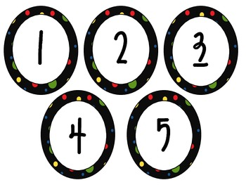 Polka Dot Numbers 1-100 Pack