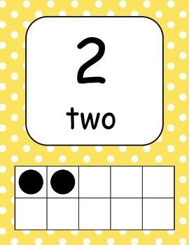 Polka Dot Numbers 1-20