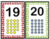 Polka Dot Numbers 1-20 Wall Cards