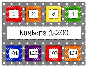 Polka Dot Numbers 1-200