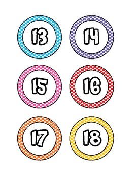 Polka Dot Numbers