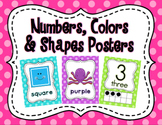 Polka Dot Numbers, Colors & Shapes Posters