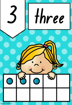 Polka Dot Numbers, Colours and Shapes Posters in NSW Foundation Font