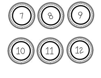 Polka Dot Numbers FREE