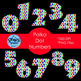 Polka Dot Numbers Freebie:  Clip Art for Word Art that Stands out