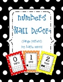 {Polka Dot} Numbers Wall Decor-Large Posters