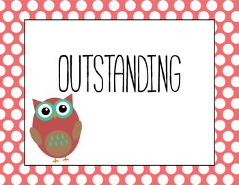 Polka Dot OWL Behavior Chart [just print & clip!]