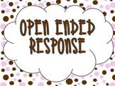 Polka Dot Open Ended Response Poster Set