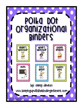 Polka Dot Organizational Binder Covers