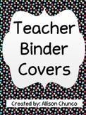 Polka Dot Organizational Teacher Binder Covers