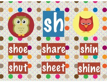 Polka Dot Owl Beginning Digraphs