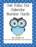 Polka Dot Owl Calendar Number Cards