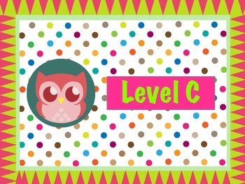 Polka Dot Owl Leveled Book Bin Labels