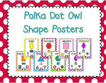 Polka Dot Owl Shape Posters