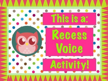 Polka Dot Owl Voice Level Signs