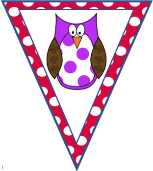 Polka Dot Owl Welcome Banner