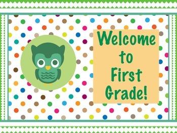 Polka Dot Owl Welcome Signs!