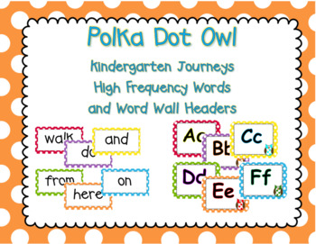 Polka Dot Owl Word Wall and High Frequency Words