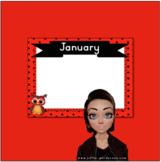Polka Dot Owls Birthday Calendar