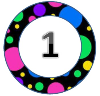 Polka Dot Pack2 Circles 1-31