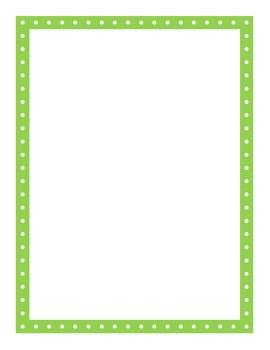 Polka Dot Page Borders