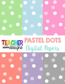 FREE Pastel Dots Digital Papers