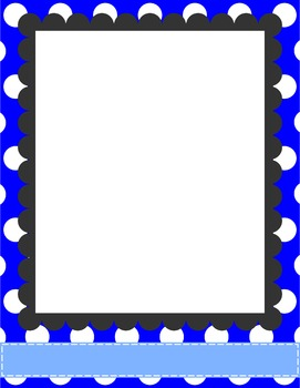 """Polka Dot Paper Bundle {8.5 x 11"""" Paper, Ribbons, and Tags for Commercial Use}"""