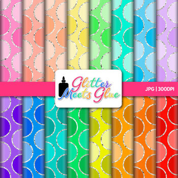 Rainbow Polka Dot Paper {Scrapbook Backgrounds for Task Cards & Brag Tags} 2