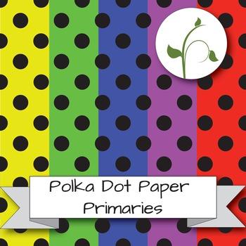 Polka Dot Paper - Primary Colors