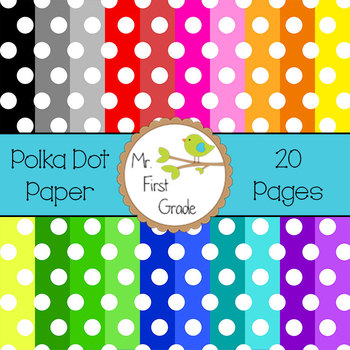 Polka Dot Papers [20 Images for Commercial Use]