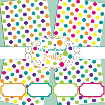 Polka Dot Papers and Tags