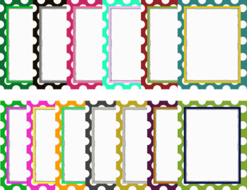 Polka Dot Papers with Frames - Commercial Use Ok