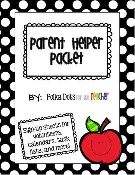 Polka Dot Parent Helper Packet