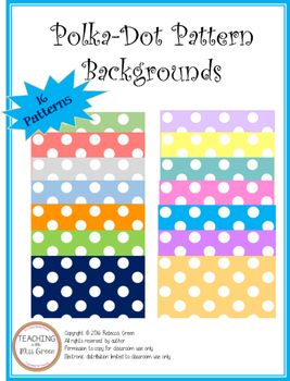 Polka-Dot Pattern Backgrounds