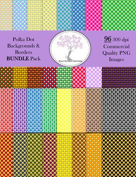 Polka Dot Pattern Backgrounds and Borders BUNDLE Pack