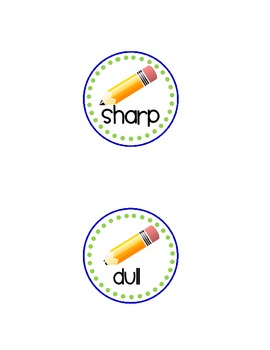 Polka Dot Pencil Labels