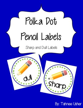 Polka Dot Pencil Labels
