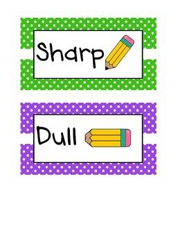 Polka Dot Pencil Signs