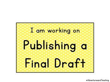 Polka Dot Pencil Writing Process Clip Chart {Writer's Workshop}