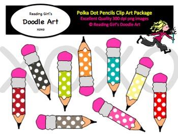 Polka Dot Pencils