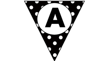 Polka Dot Pennant Freebie