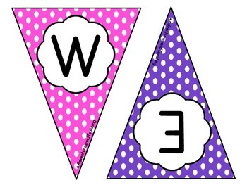 Polka Dot Pennant Sign FREEBIE