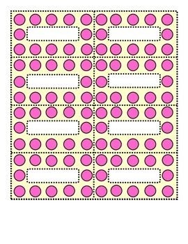 Polka Dot Pink and Cream Small Labels