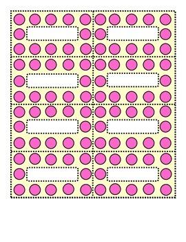 Polka Dot Pink and Cream Small Labels