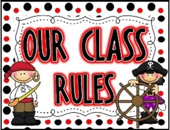 Polka Dot Pirate Rules {Black/Red}
