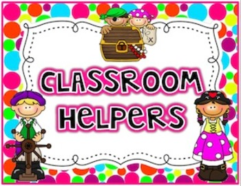 Polka Dot Pirates {Classroom Jobs/Helpers Cards}