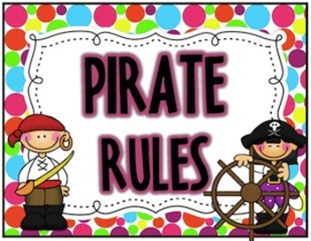 Polka Dot Pirates {Rules Posters}