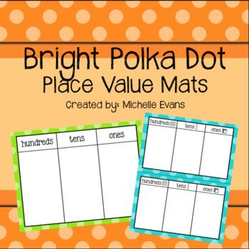 Bright Polka Dot Place Value Mats