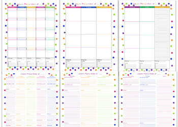 Teacher Planner 2017-2018 Polka Dot Theme