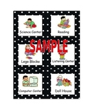 Polka Dot Pocket Chart Center Cards